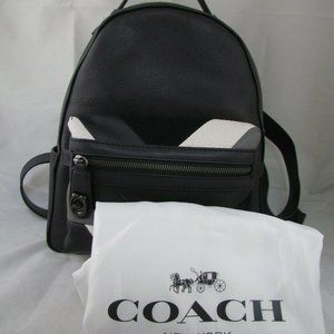 Coach Patchwork Campus Backpack Refresh In Black